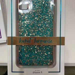 iPhone X Karat Turquoise case mate